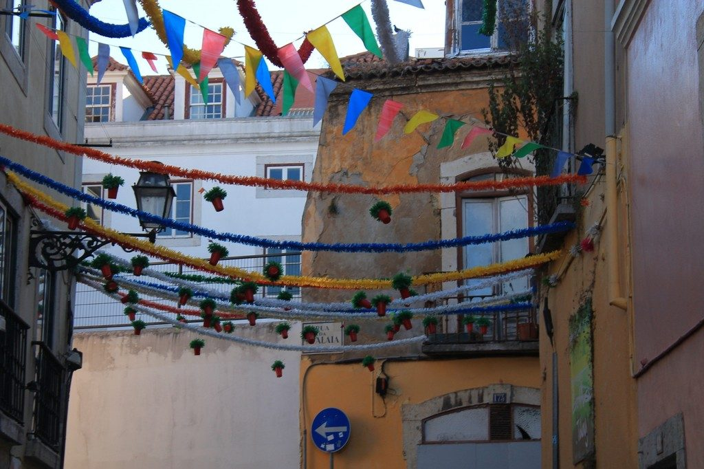 Lisbon street decoration in Bairro Alto