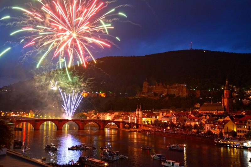 Heidelberg fireworks