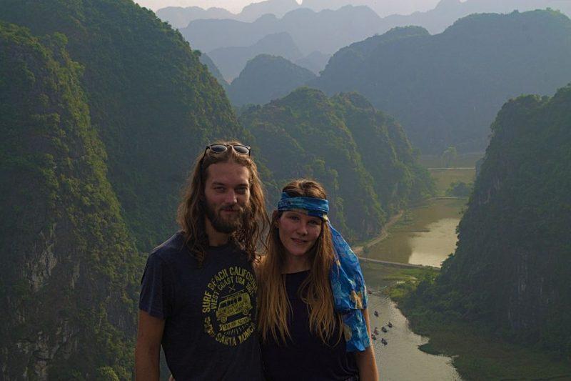 Hemmo & Tina at Tam Cốc viewpoint