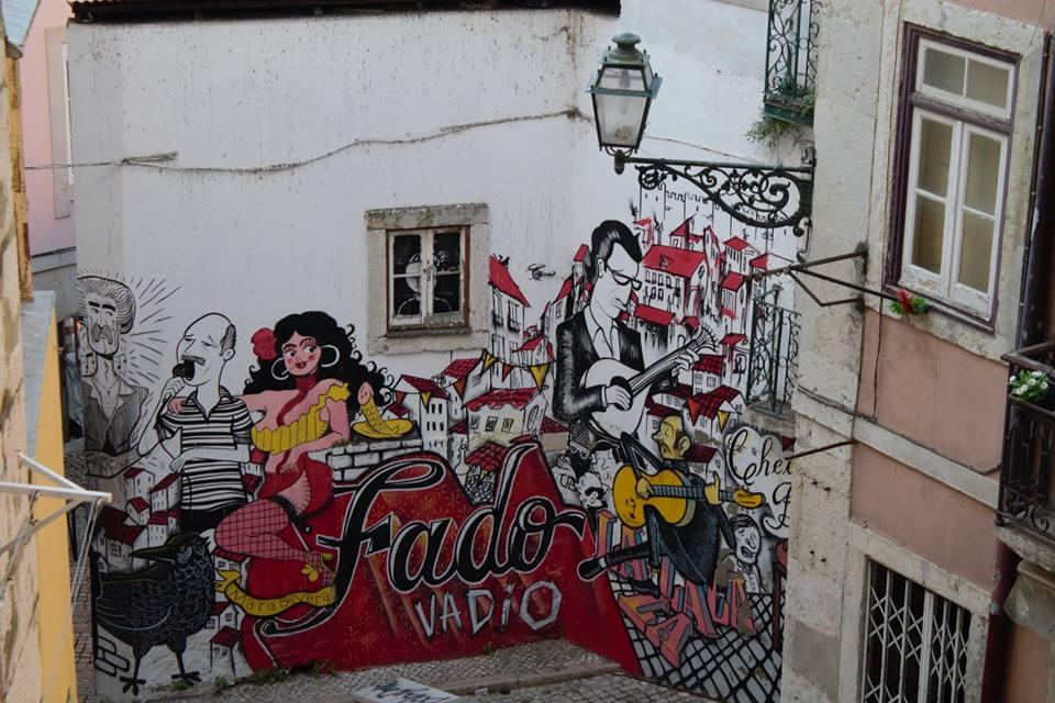 Lisbon, Alfama, Fado graffiti