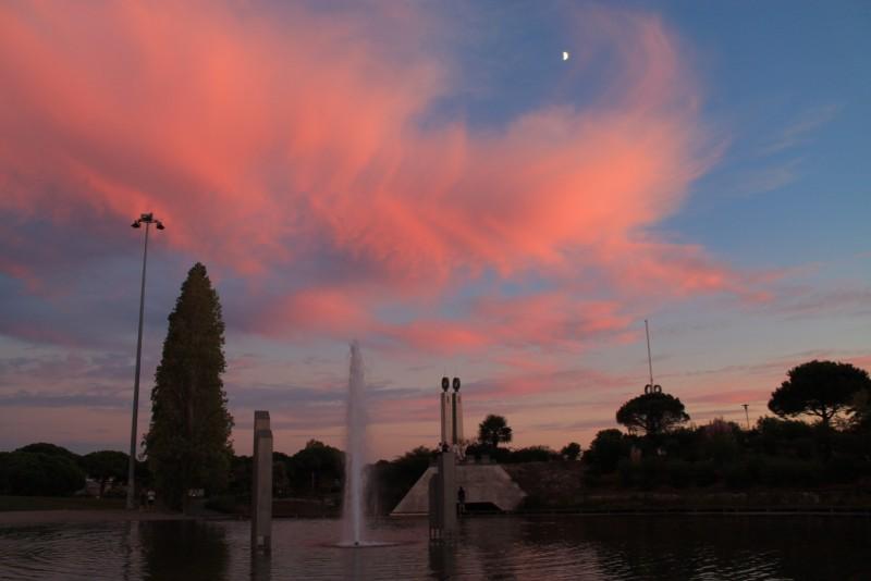 Pink sky at Parque, Lisbon