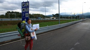 Hitchhiking in Viseu