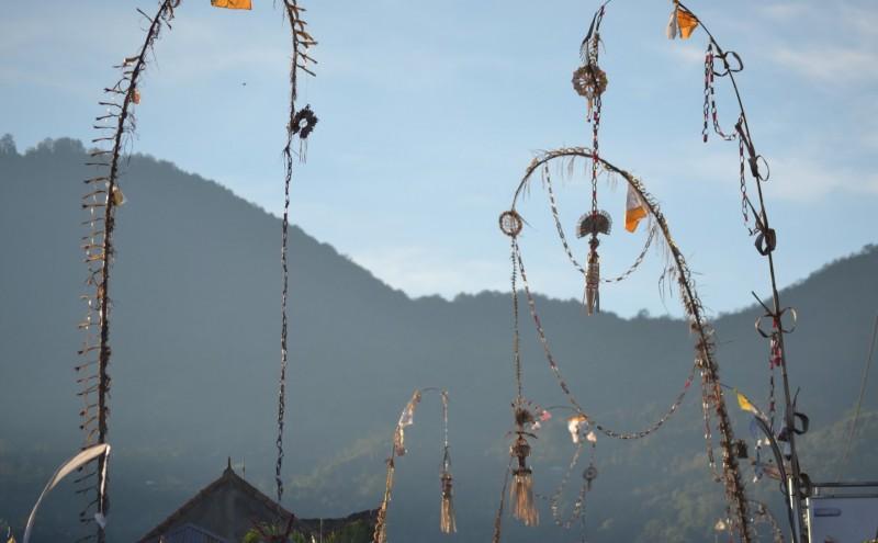 Penjor decoration in Bali