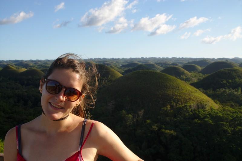 Tina at the Chocolate Hills