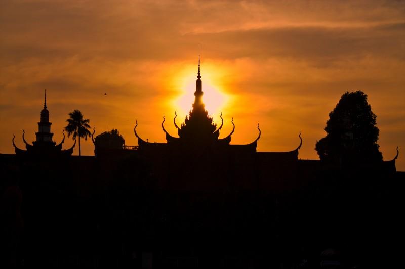 Phnom Penh National Museum sunset