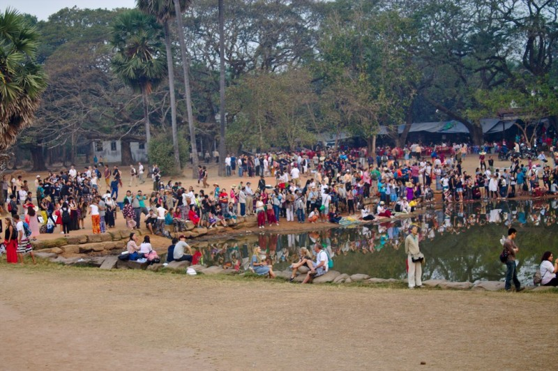 Crowd at Angkor Wat