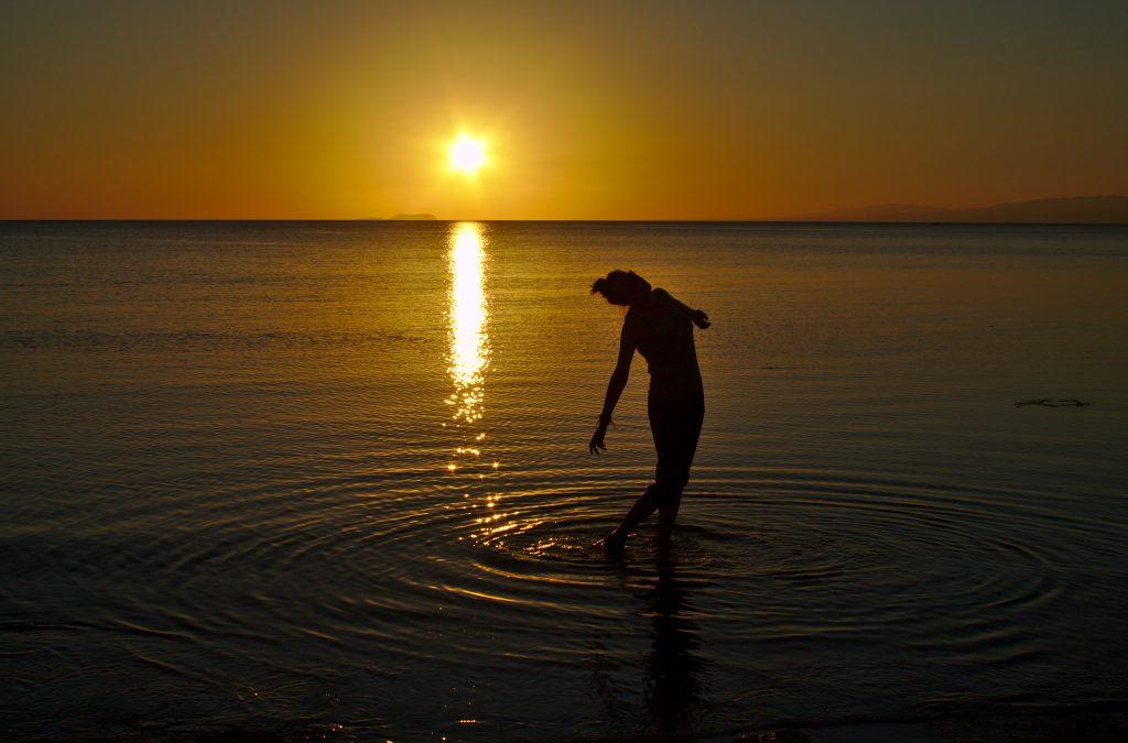 Tina at Siquijor sunset