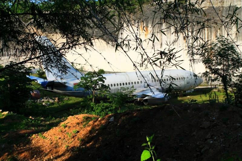 Abandoned plane in Uluwatu area, Bali