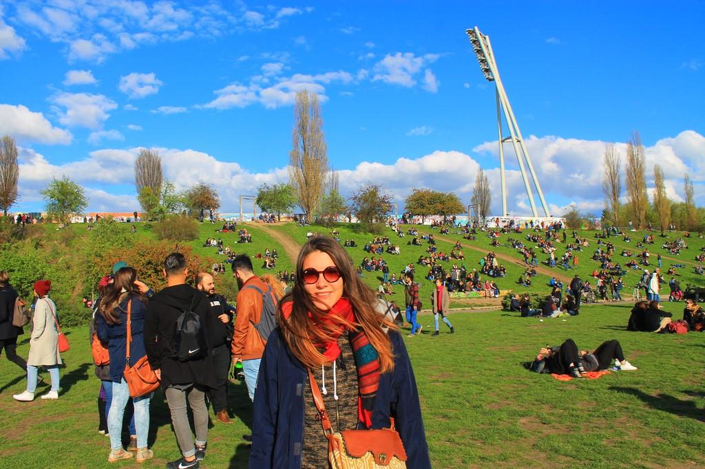 Mauerpark park and flee market