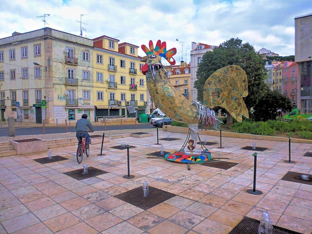 Cock at Martim Moniz in Lisbon