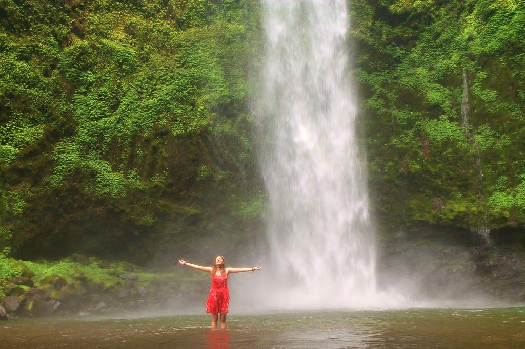 Tina at Nungnung waterfall, Bali