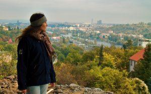 View over Prague from Barrandovské terasy