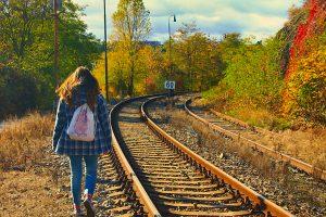walking along the railway