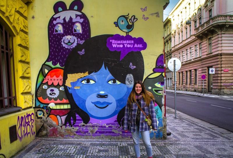 Prague, street art, Remember who you are, Elišky Peškové