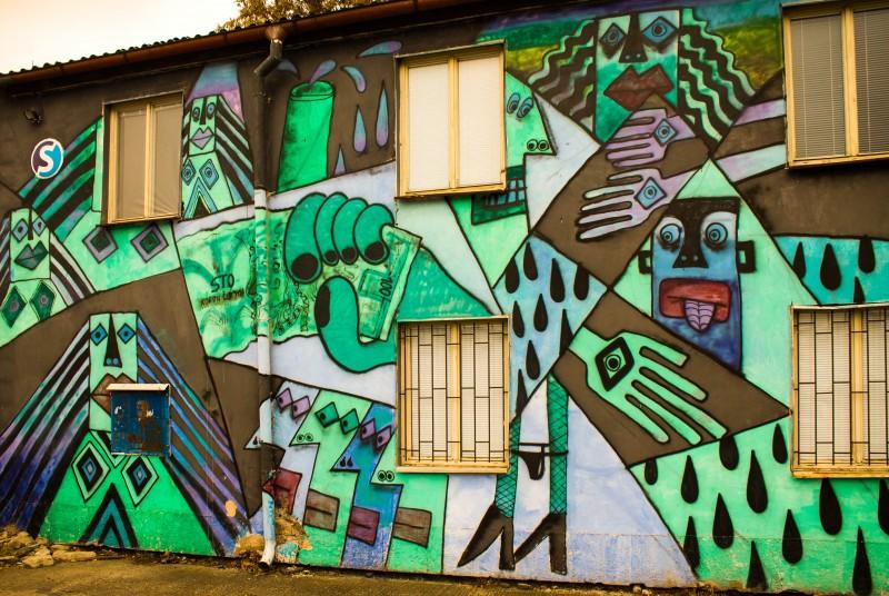 Prague street art, train station, Za Ženskými domovy