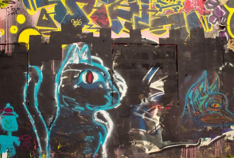 Prague streetart, squirrel