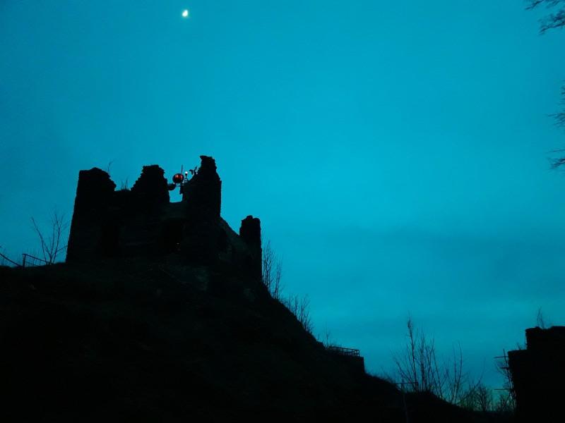 Andělská Hora at night