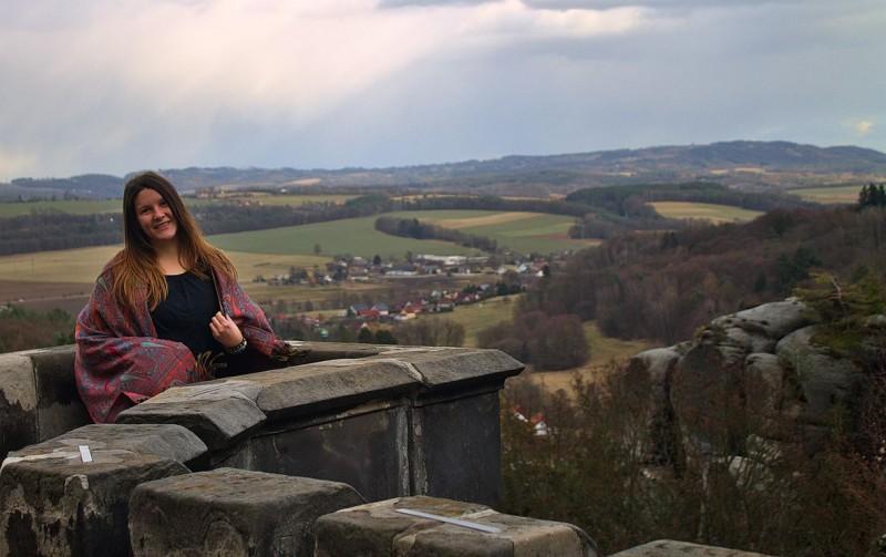View from castle Hrubá Skála