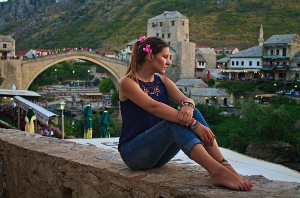 Mostar, Old Bridge, reflecting the history of this country