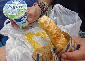 Croatia fast food, burek, tecni jogurt