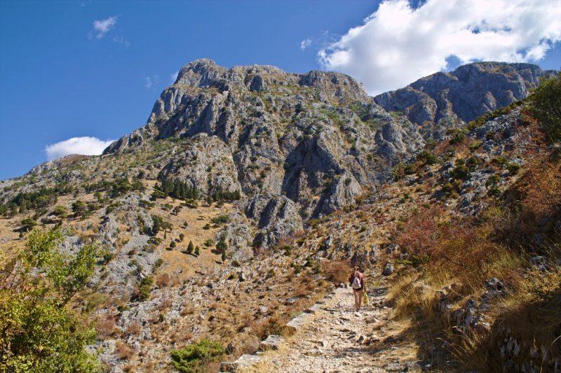 Montenegro, Kotor, fortress, ladder of Cattaro