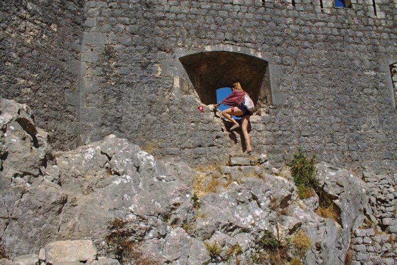 Montenegro, Kotor, fortress, Špiljari, window