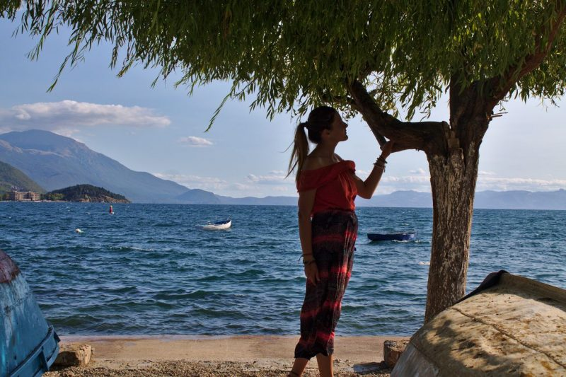 Macedonia, Lake Ohrid, Old town beach