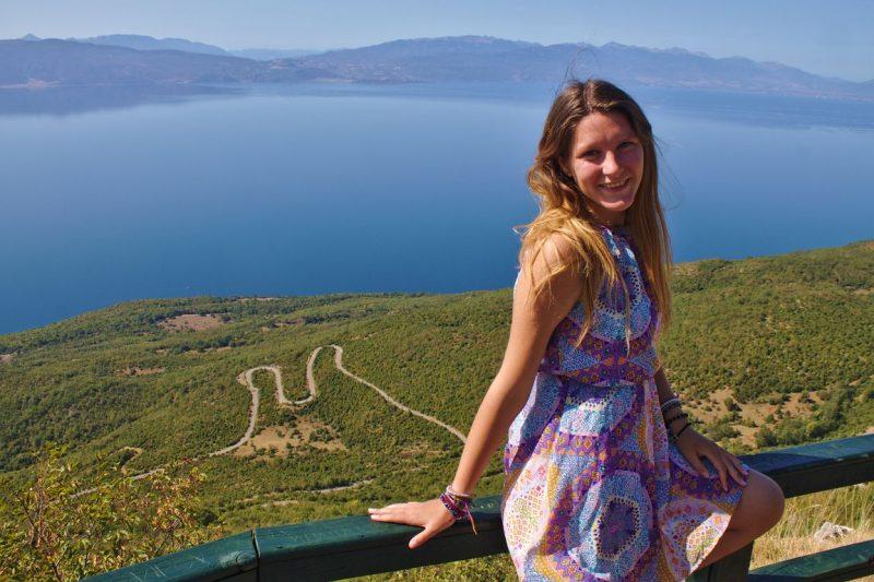 Macedonia, Galičica, viewpoint, lake Ohrid