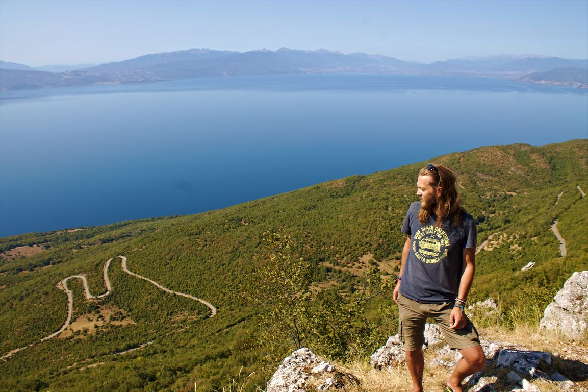View over Ohrid Lake from Galičica National Park