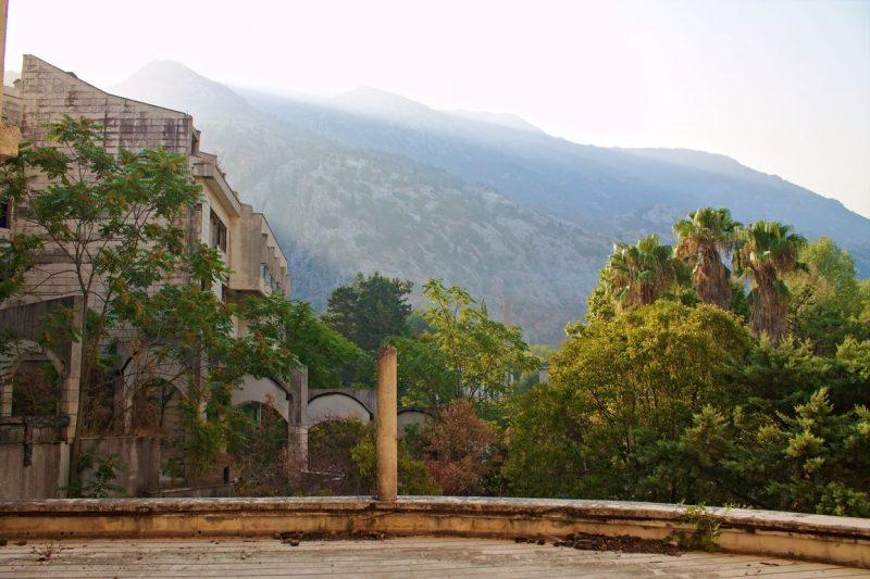 Montenegro, Kotor, Hotel Fjord, terrace