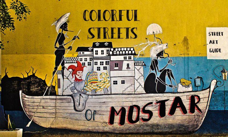 Mostar, street art, guide