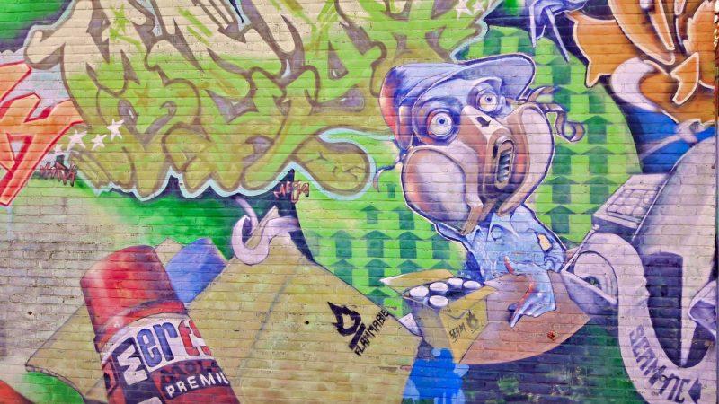 Graffiti Sixmastraat, Leeuwarden