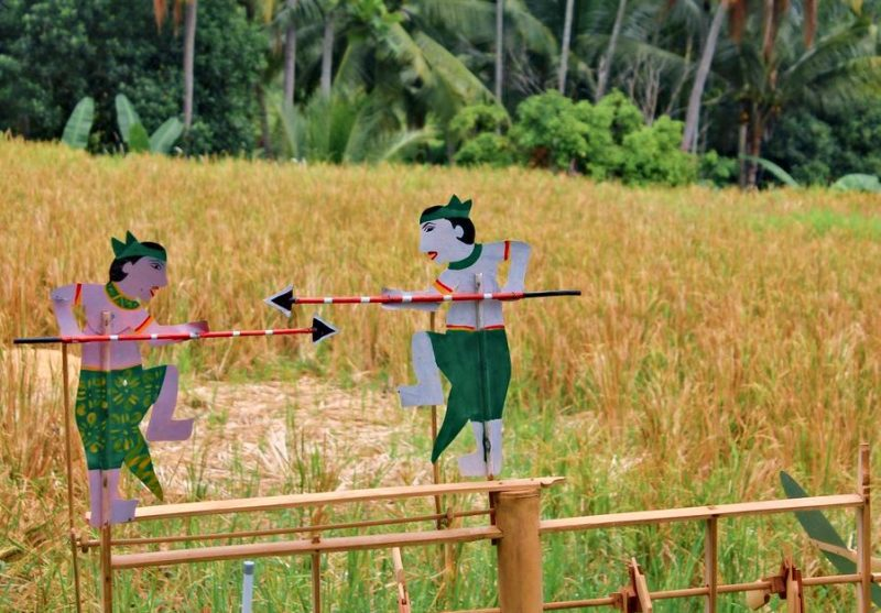 Indiana decoration in rice fields in Bali