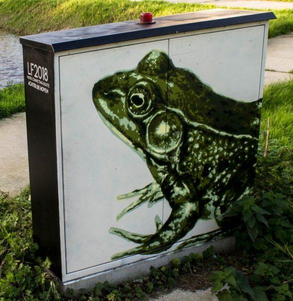 Frog graffiti in Leeuwarden
