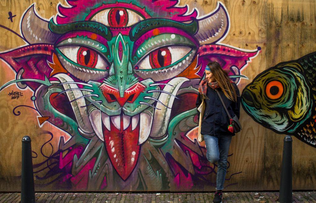 Colorful Streetart in Leeuwarden