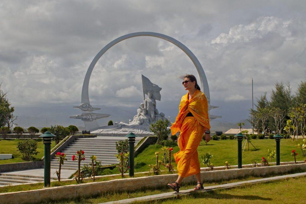 Tina at Gac Ma Vietnam Soldier Monument, Nha Trang, Vietnam