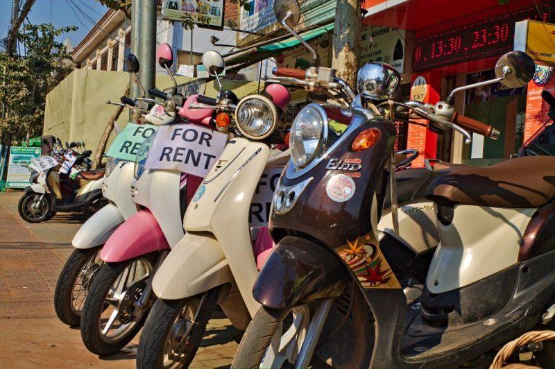 Rent a motorbike in Cambodia