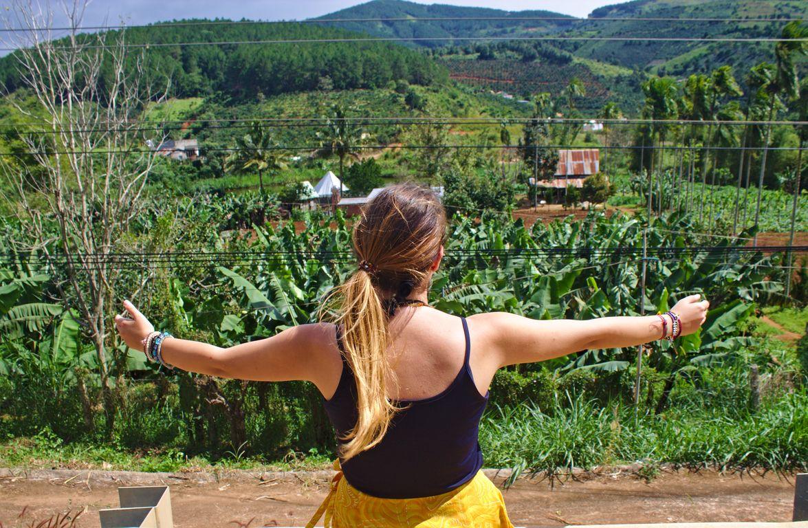 Hugging the peaceful green countryside of Dalat, Vietnam