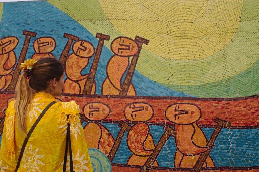 Mosaic Wall, Hanoi, Vietnam