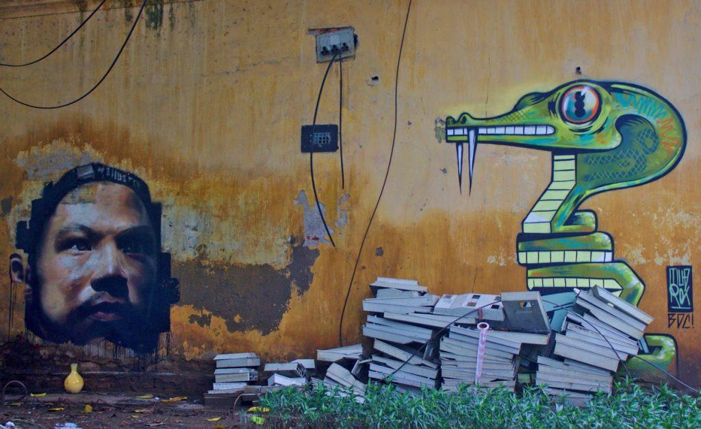 Street art, Hanoi, Vietnam