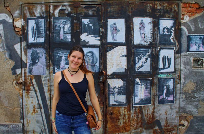 abandoned building, street art, prague