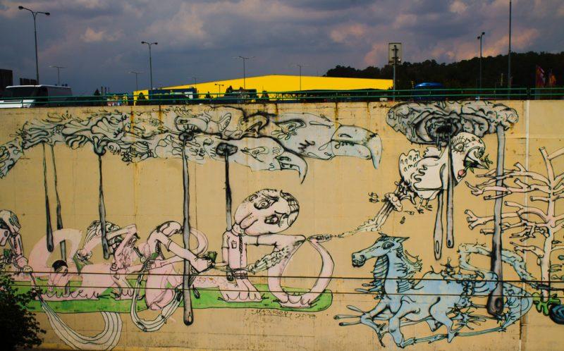 Černý Most, street art, Prague