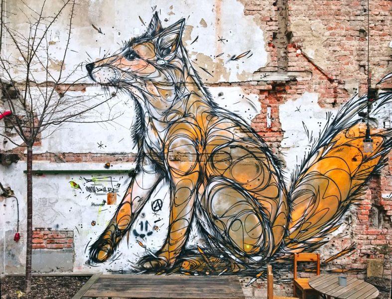 Vnitroblock Prague Streetart Fox