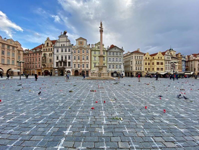 Covid-19 Memorial, Old town square, Prague