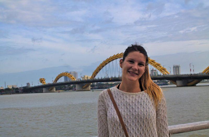 Tian at Dragon Bridge, Da Nang, Vietnam