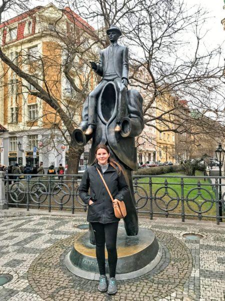 Franz Kafka statue, Jaroslav Róna, Prague