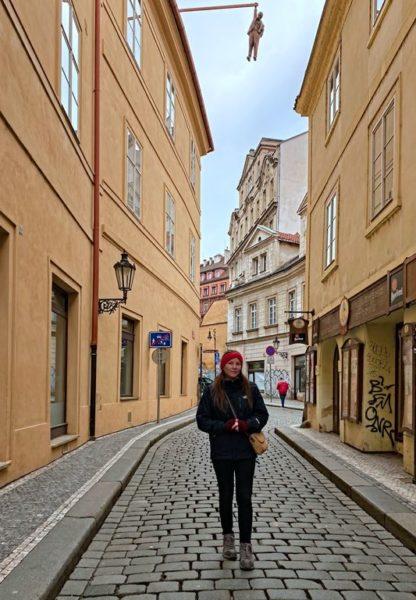 Man hanging out, Husova, Prague