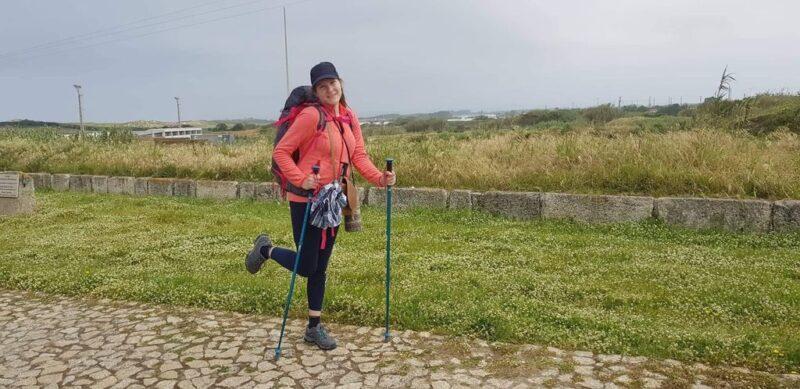Tina at the camino, Camino Portugues