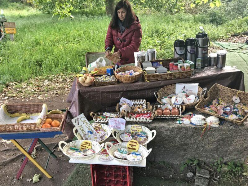 Vendor with stall, Camino Portugues