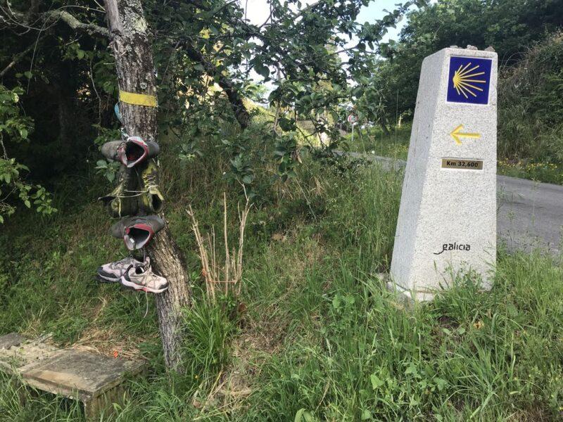 camino signpost, Camino Portugues